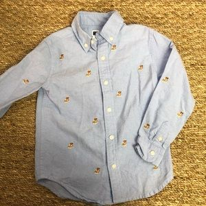 Janie and Jack button down kids shirt